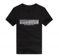 特色简洁印花字母短袖T恤[3色]
