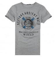 复古欧洲风情短袖T恤[2色]