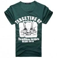 时尚大炮图案印花短袖T恤