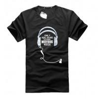 时尚气质耳机印花短袖T恤