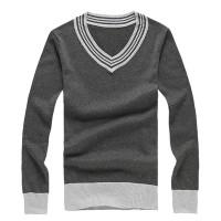 新款混色V领风情毛衣[3色] 30005